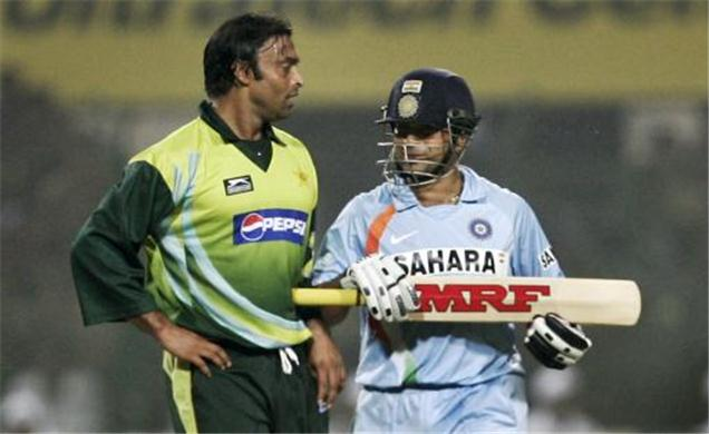 Sachin and Shoaib Akhtar Face off