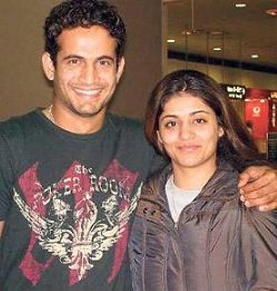 Irfan Pathan Shivangi Irfan Pathan with his