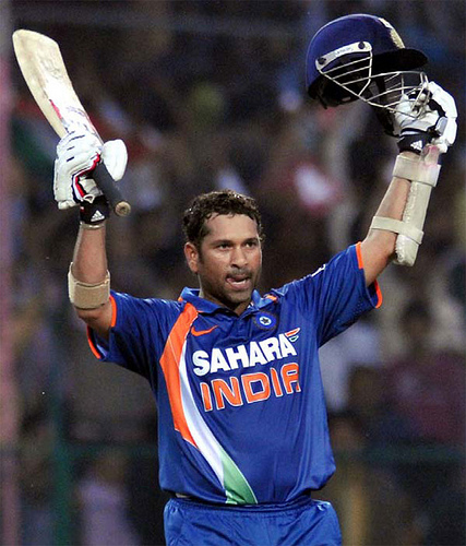 Sachin Tendulkar is the only male player to score a double century in the history of ODI cricket