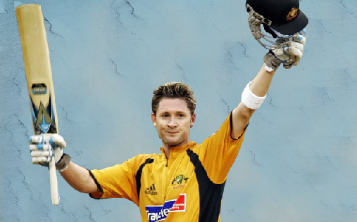 Michael Clarke scored his first century against India in 2004 with 151 runs