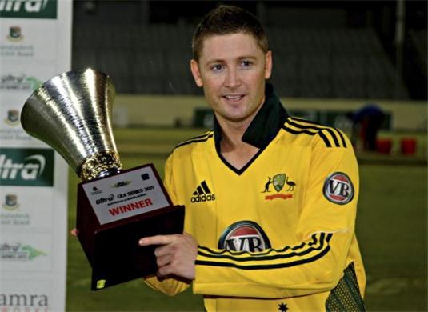 Michael Clarke was awarded the Allan Border Medal in 2005