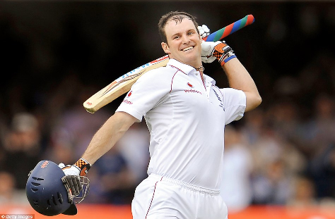 Andrew Strauss was named man of the match in his first overseas Test match