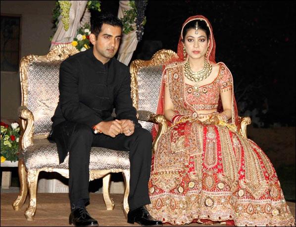 Gautam Gamhir with his wife Natasha Jain after marriage ...