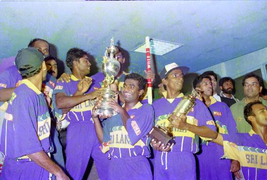 Sri Lanka won the 1996 World Cup tournament |