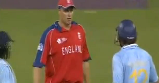 Andrew Flintoff sledged Yuvi just before 19th over