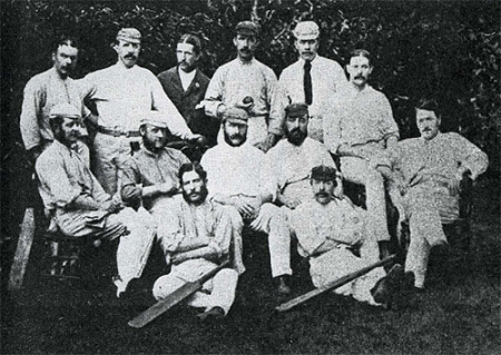 Australia beat England at the Melbourne Cricket Ground (MCG) in the year 1877