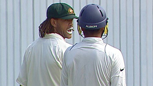 A controversy started between Harbhajan and Symonds