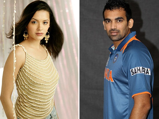 Pictures of Zaheer Khan and Isha Sharvani ...