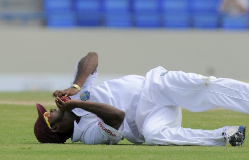 Narsingh Deonarine takes a brilliant catch