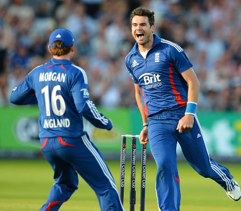 James Anderson took two wickets in a probing early spell,