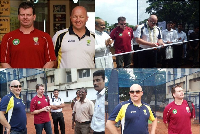 Mr. Betsey imparting cricketing knowledge with CIA.