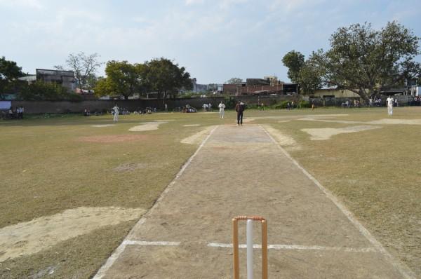 First match of Khan memorial Cricket Tournament 2014 under play.