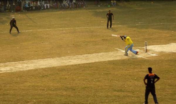 Still from Fourth Match of Khan memorial cricket tournament 2015.