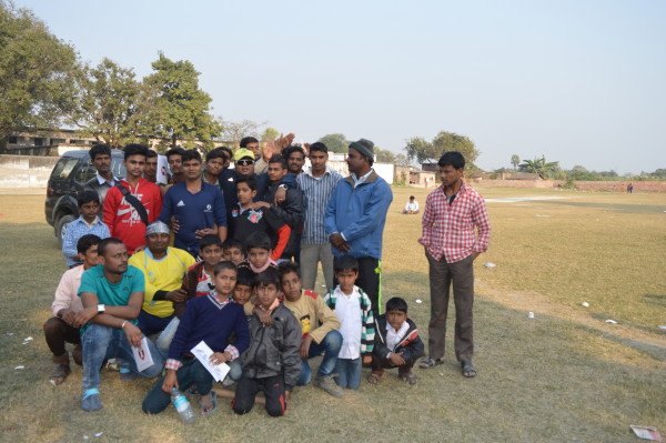 Member of Patna team and supporters